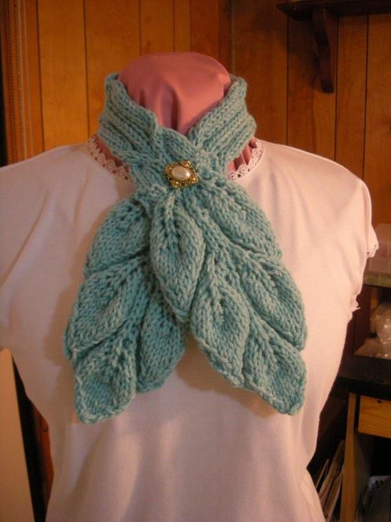Ascot Scarf Knitting Pattern : knitted ascot Knitting Pinterest