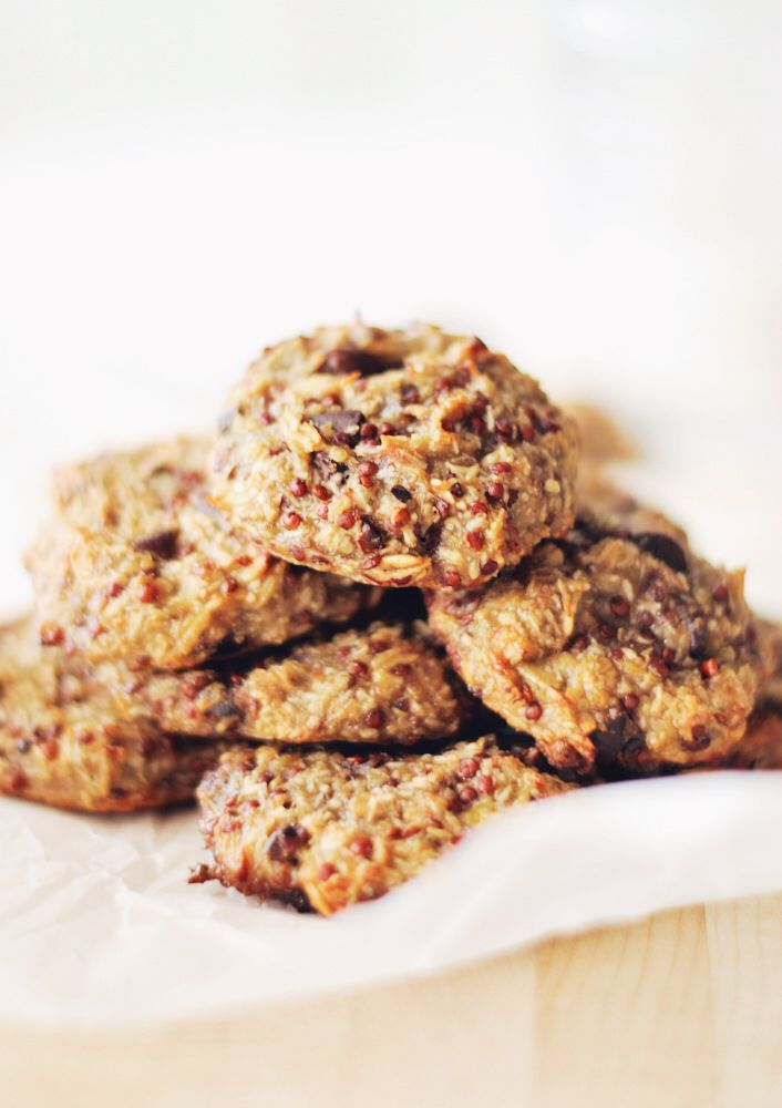 24 cookies Total Time: 35 minutes} 4 ripe bananas 1 cup cooked quinoa ...
