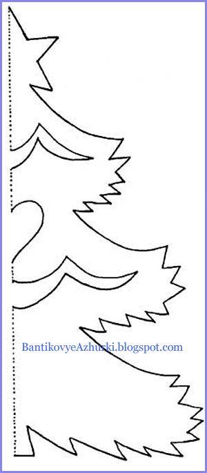 Снежинка елка из бумаги