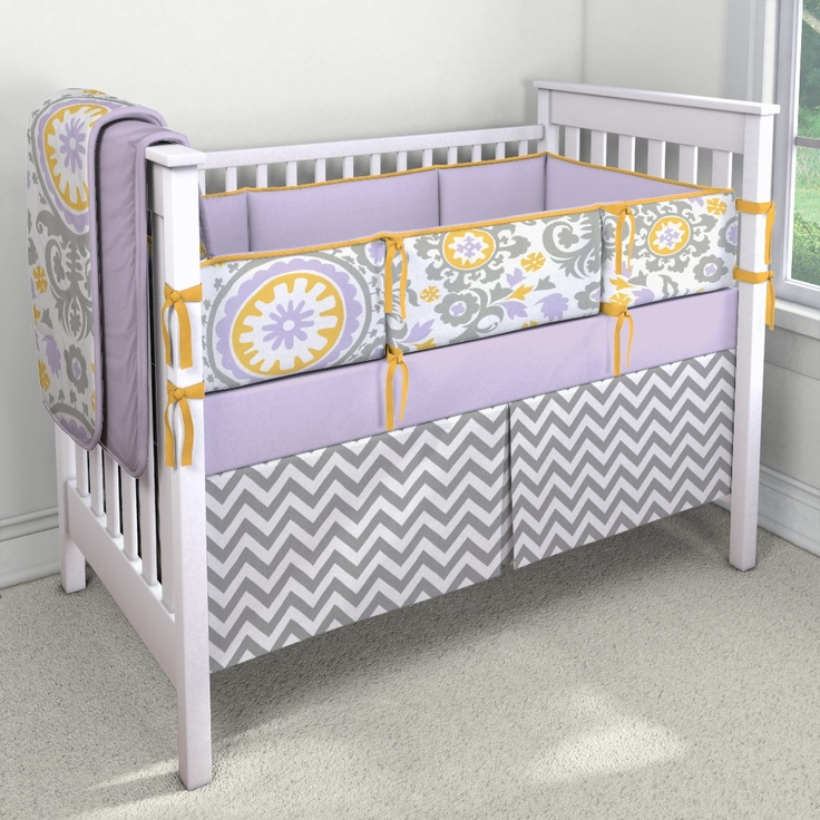 Pin by amanda mcdaniel on baby 2 pinterest - Purple and yellow bedding ...