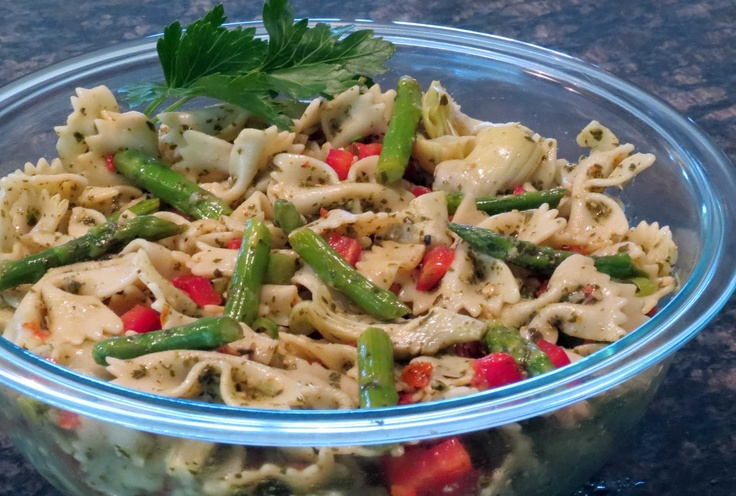 Pesto Vegetable Pasta Salad | Side Dish Recipes - Dinner with the Wel ...