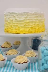 Hochzeitstorte im Farbmotto Gelb  Torte: suess-und-salzig.de