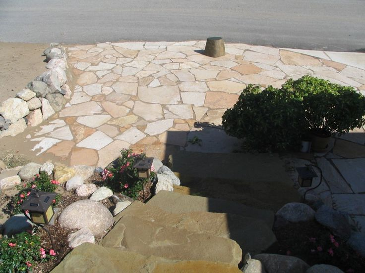 Flagstone Patio Designs For The Home Pinterest