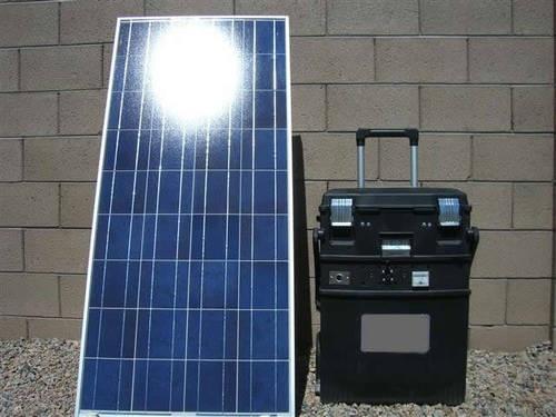2500 Watt Solar Generator plug & play with 200 watt panel Very ...