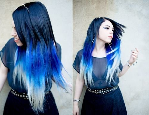 blue hair similar to the color i want