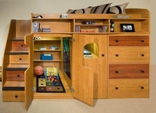 Super Cool Beds : Super-cool bed with playhouse  Diseño  Pinterest