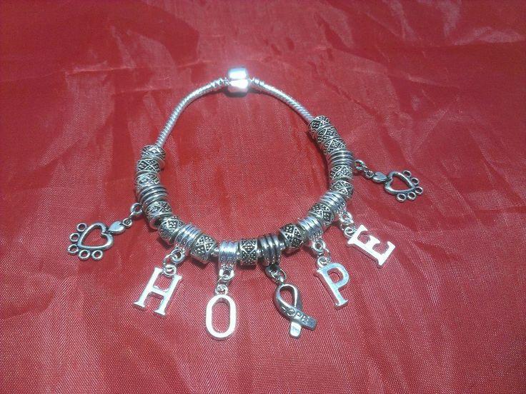 Charm bracelet breast cancer