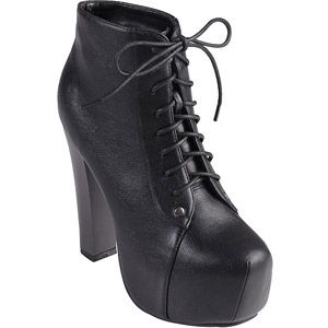 Brinley Co Women s Lace-up High Heel Booties