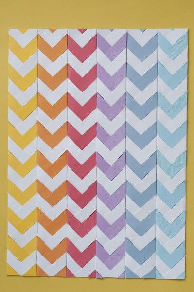 DIY Chevron Paper