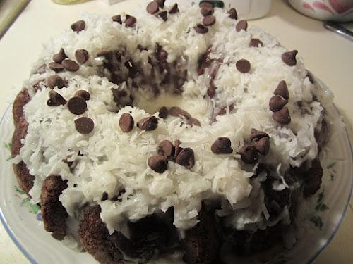 Chocolate Coconut Chocolate Chip Cake | Mmmmm Sugarrrrr | Pinterest