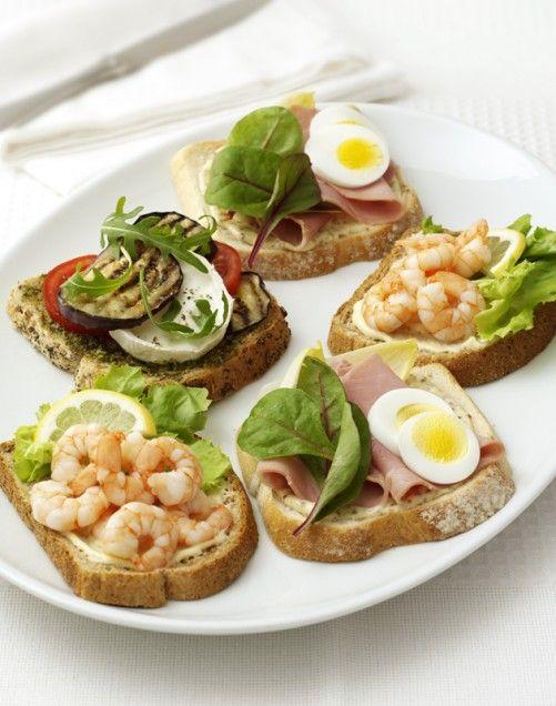 Open-Faced Sandwiches | Open face sandwich | Pinterest
