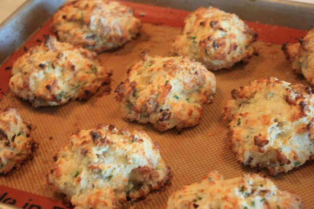 Bacon-Cheddar and Chive Drop Biscuits - Heather Christo Cooks