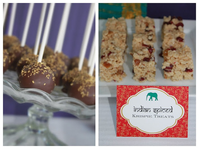 Oreo Pops & Indian Spiced Rice Krispie Treats (cardamom, golden ...