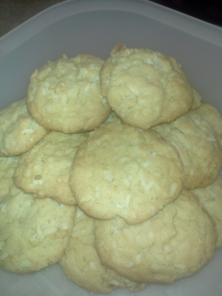 Chewy Coconut Cookies | Baking is my passion. | Pinterest