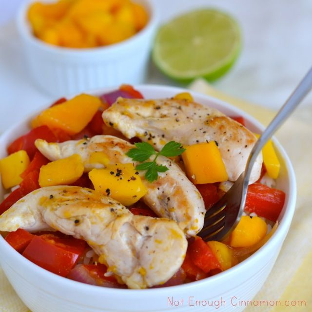 Bell Pepper, Mango and Red Onion Chicken - 5 WW+ (serve w/ brown ...