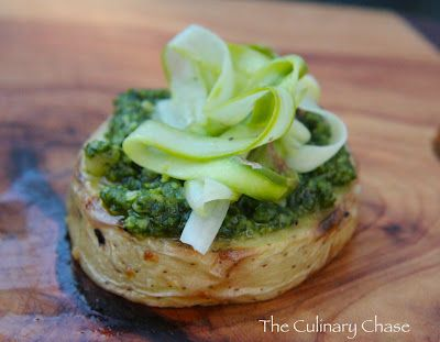 Grilled Potato Rounds with Pesto and Shaved Asparagus - The Culinary ...