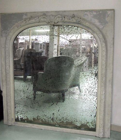 Mercury glass mirror c 1840 indoor inspiration pinterest for Looking mirror