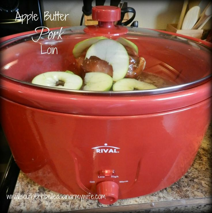 Easy and fork-tender Crock Pot Apple Butter Pork Loin that's amazing ...