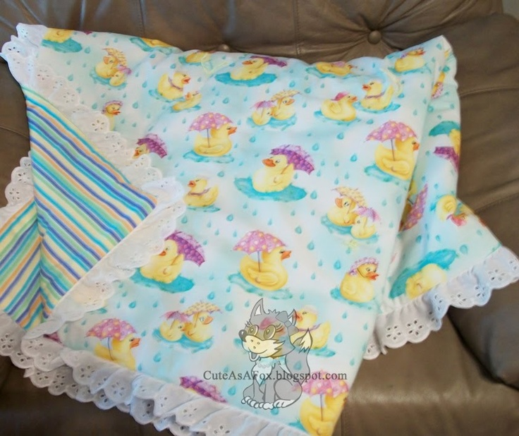 Easy tied baby quilt tutorial revised