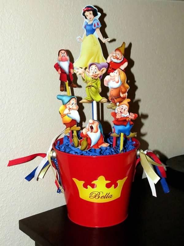 Snow white centerpiece simple party ideas pinterest
