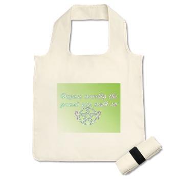 Pagans worship the ground you walk on Reusable Shopping bag