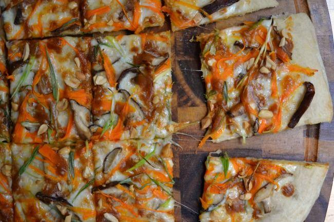 pizza come upon shiitake shiitake mushroom and gorgonzola pizza recipe ...