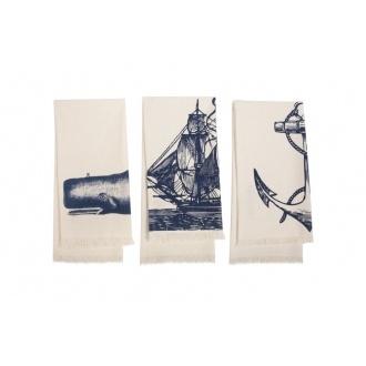 Thomas Paul Seafarer Hand Towel, Set of 3, from Design Public.