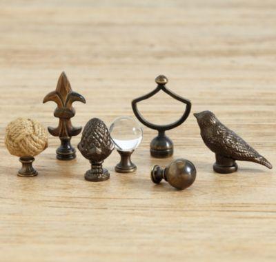 lamp finials from ballard designs. Black Bedroom Furniture Sets. Home Design Ideas