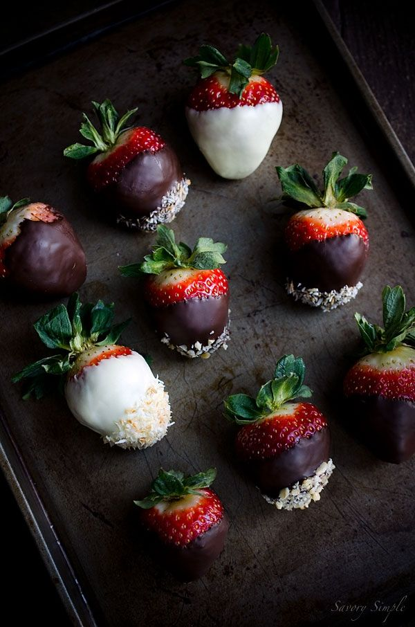 Chocolate Dipped Strawberries by Savory Simple