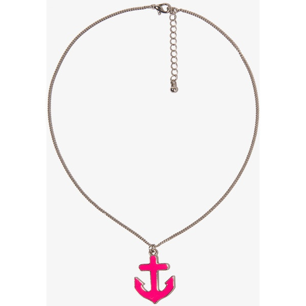Forever 21 anchor charm necklace 9 33 cny found on polyvore anchor