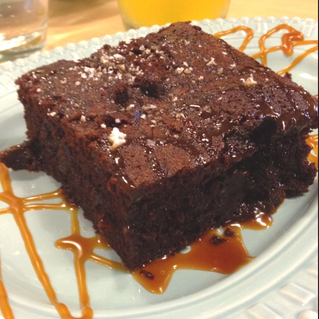 Salted Caramel Chocolate Brownies Recipe — Dishmaps