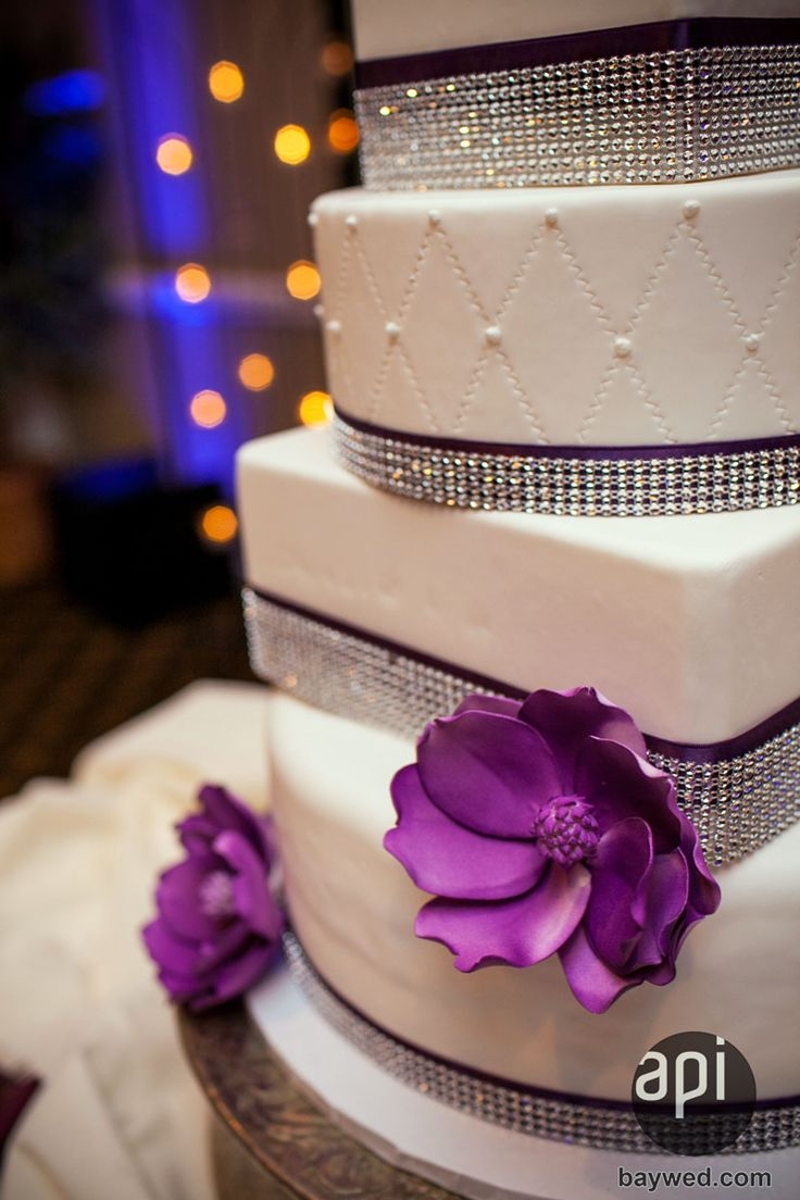 White Purple With Bling