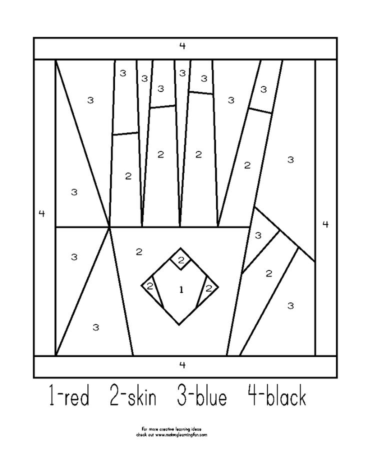 Number Hand Colouring Pages