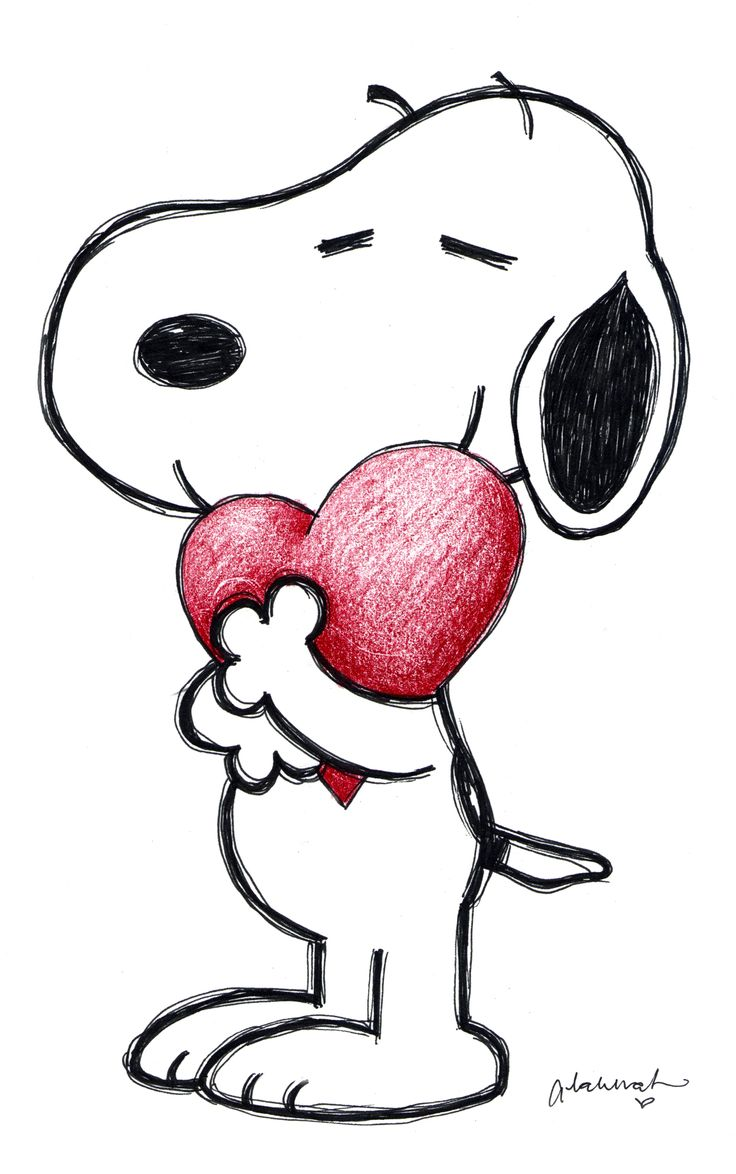 Snoopy Love | Drawing Ideas | Pinterest