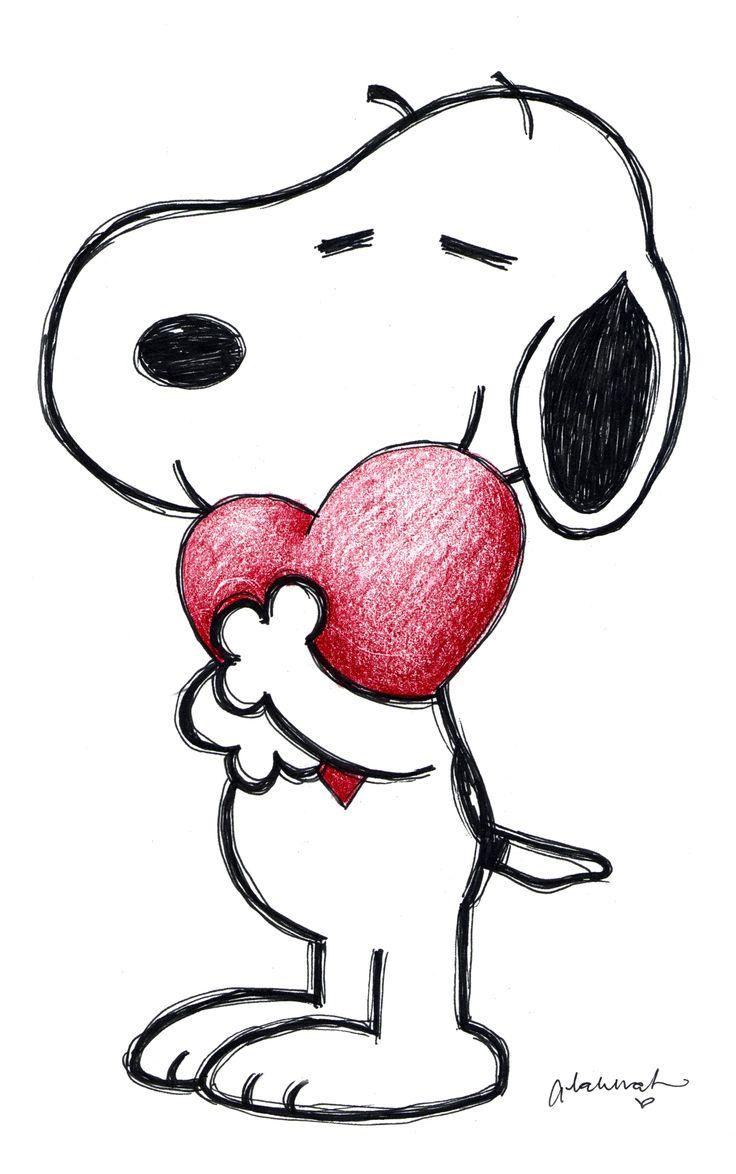 Snoopy Love | Drawing Ideas | Pinterest