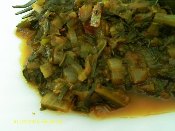 Mexican Turnip Greens  Photo by Dienia B Green Turnip Recipe