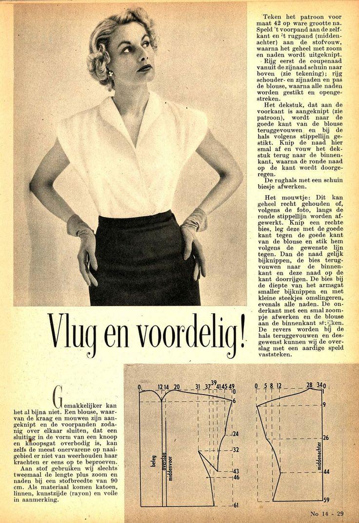 Vintage blouse pattern