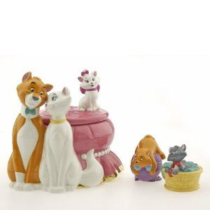 Aristocats Cookie Jar with Salt & Pepper Shakers, Limited Edition 150 ...
