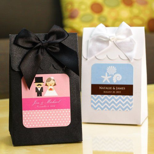 personalized wedding candy bags by beau coup