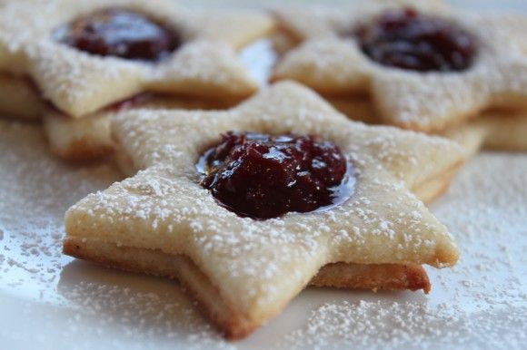 Raspberry Cherry Linzer Cookies