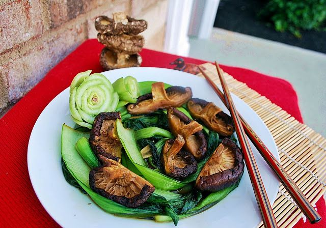 Baby Bok Choy with Shiitake Mushrooms | Vegetables and Pulses | Pinte ...