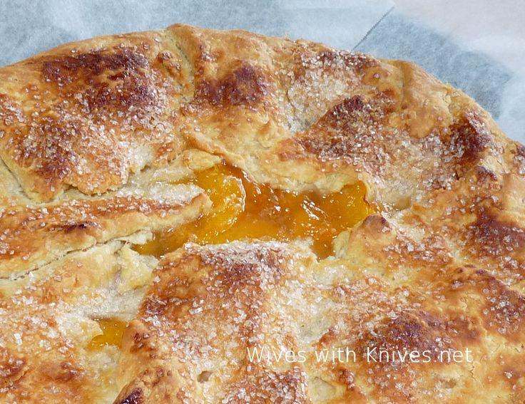 Peach Galette Recipe — Dishmaps