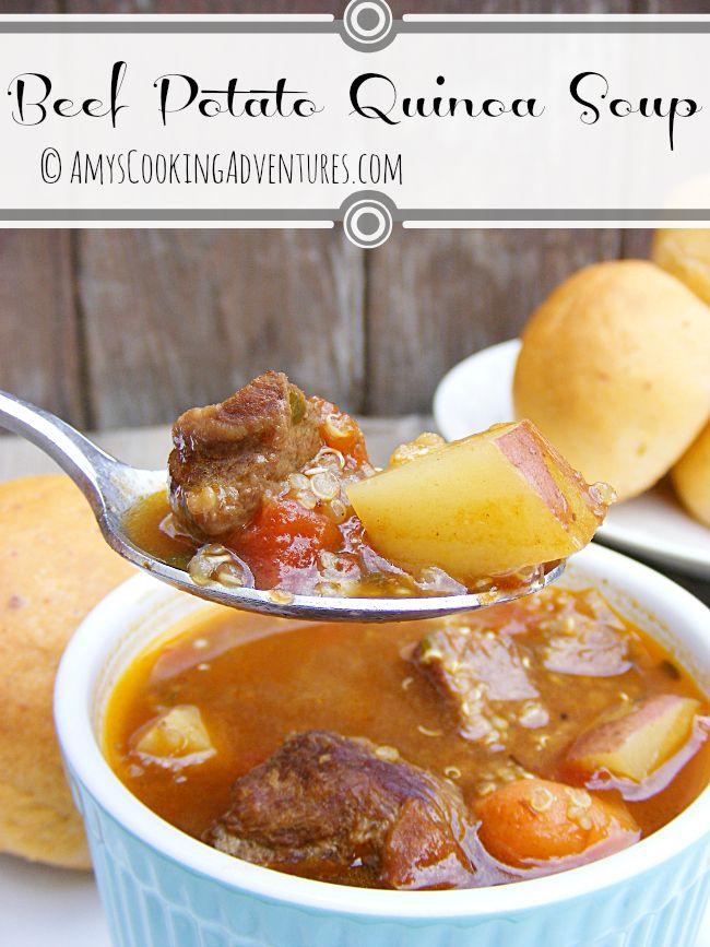 Beef Potato Quinoa Soup | Soups & sandwishes | Pinterest
