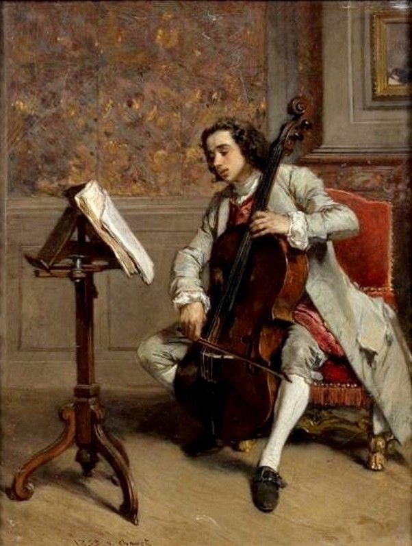Victor Joseph Chavet (1822-1908)  —   Cellist, 1853