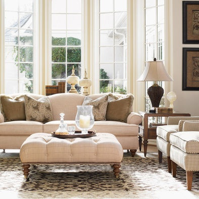 Charlotte Traditional Living Room Design, Pictures, Remodel, Decor and ...
