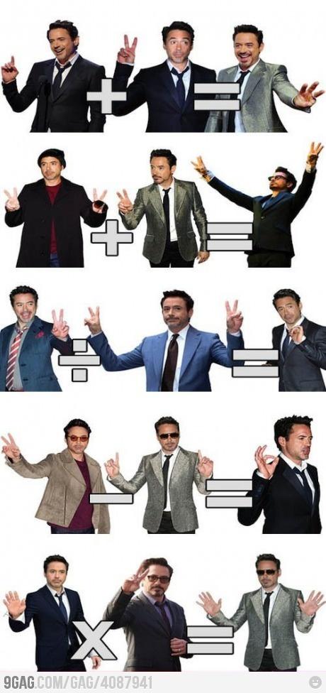 Robert Downey Jr. teaches you math