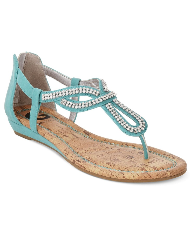 by GUESS Womens Shoes, Jenna Flat Sandals - All Womens Shoes - Shoes