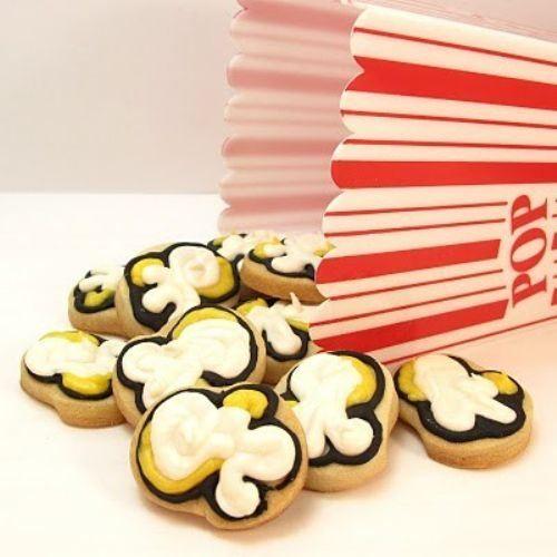 Movie night perfect Popcorn Cookies. #food #cookies #popcorn