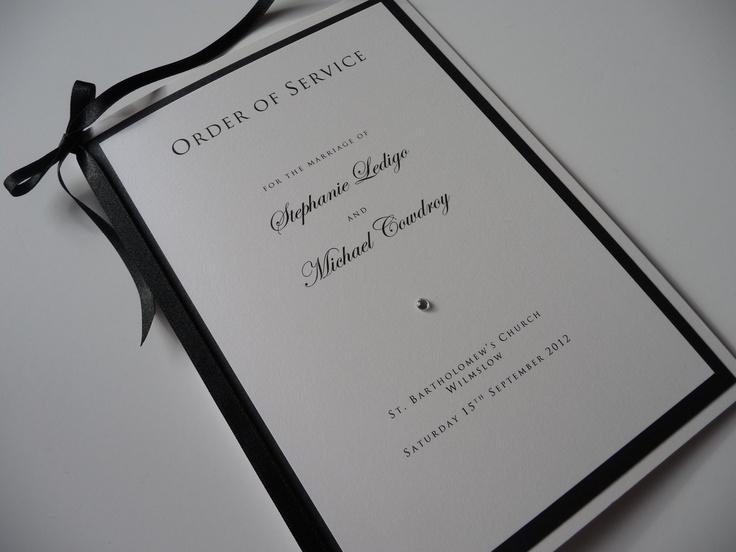Black Wedding Order Of Service 108