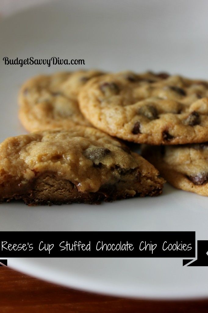 Reese's Cup Stuffed Chocolate Chip Cookies   Recipe